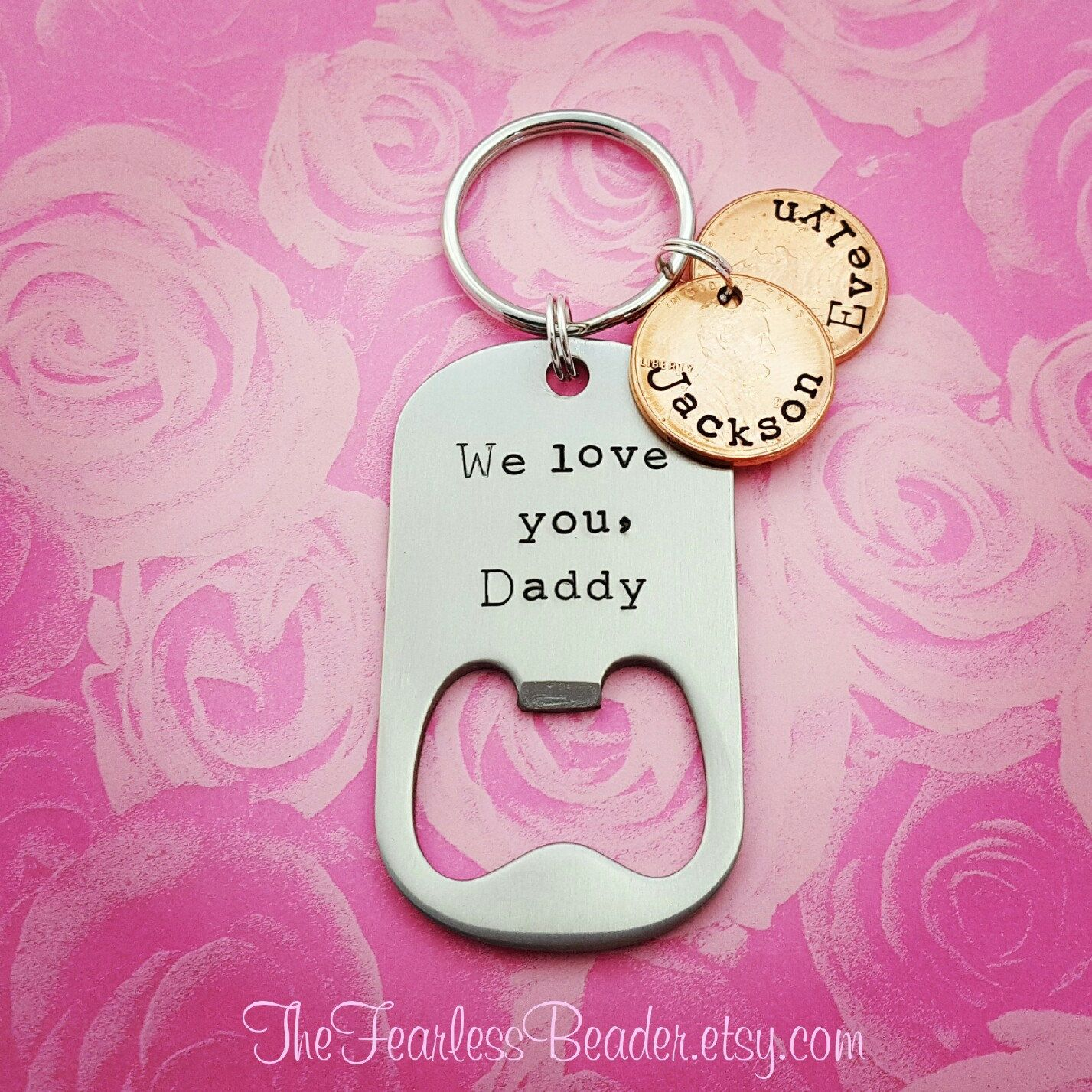 Keychain for Dad, Fathers Day, Custom Bottle Opener Keychain ...