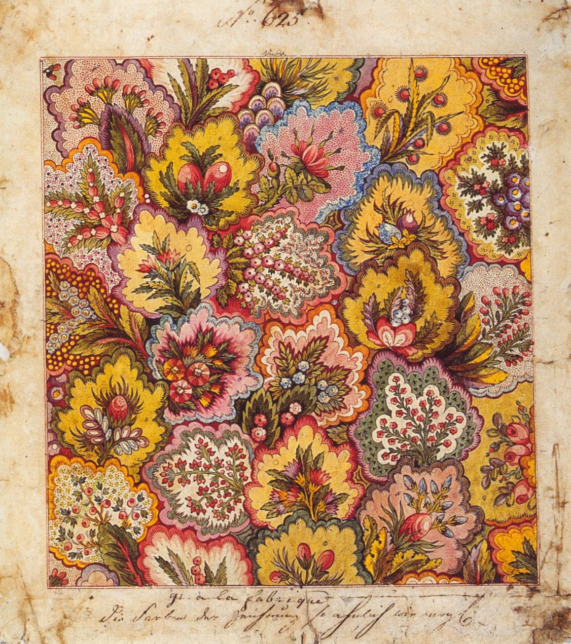 Textile design, factory of Jean-Michel Haussmann, Colmar, 1797