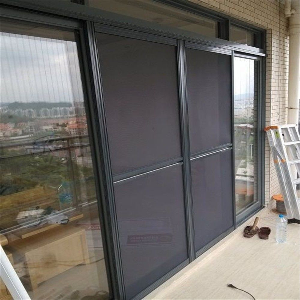 Sliding mosquito nets for doors and windows sturdy framed for Sliding screen door frame