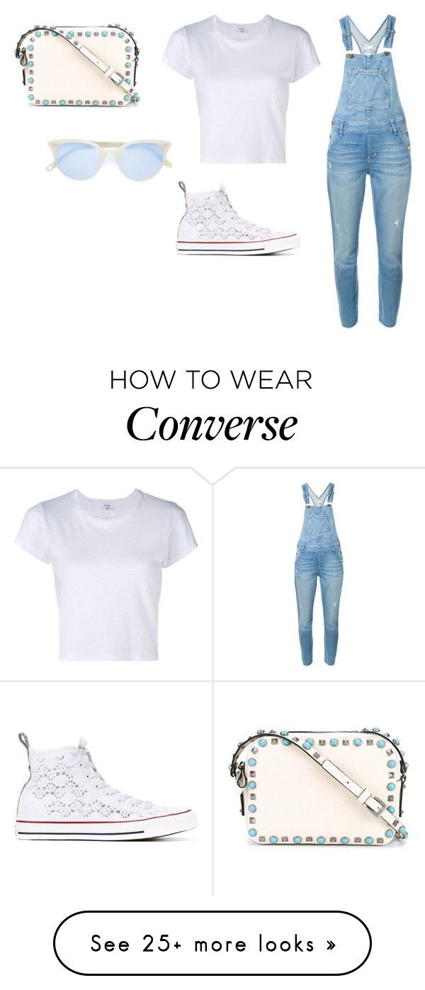 """""""Sin título #4342"""" by ceciliaamuedo on Polyvore featuring Current/Elliott, RE/DONE, Converse, Valentino and Garrett Leight"""