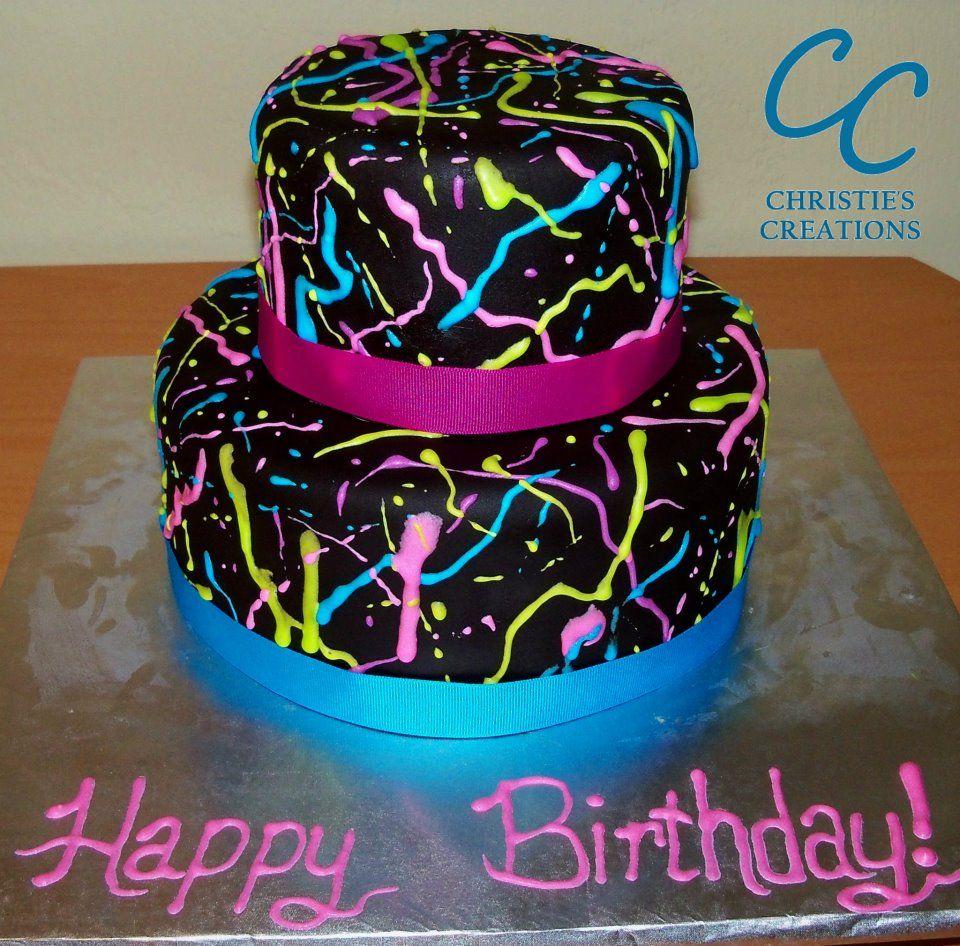 Neon Birthday Cakes The Best Cake Of 2018
