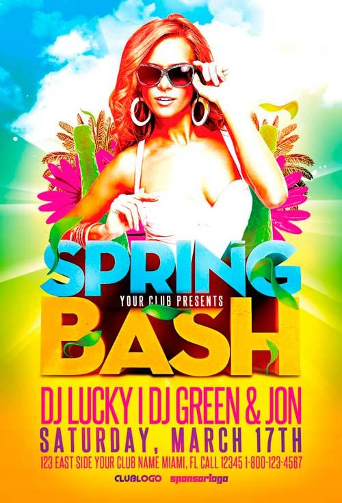 Spring Bash Flyer Template Vol2 - http\/\/ffflyer\/spring-bash - easter flyer template
