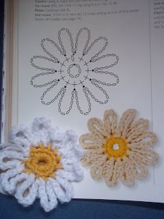 ❀ Lazy Daisy ❀  Simple and Easy!  Thanks for sharing! ¯\_(ツ)_/¯  ☀ CQ #crochet