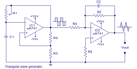 triangle wavegenerator circuit is the transport of energy by rh pinterest com Math Triangle Diagram Power Triangle Diagram
