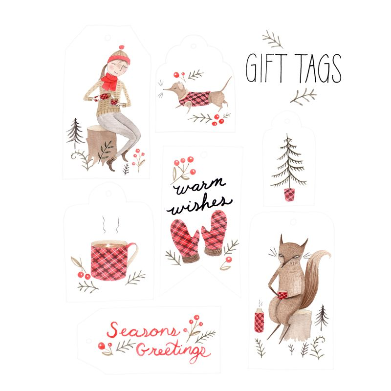 Plaid Holiday printable gift tags by Julianna Swaney | School ...