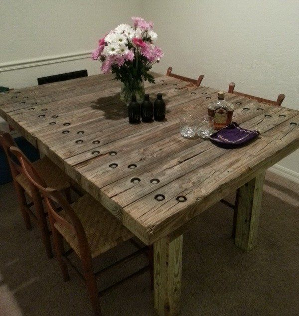 Ordinaire Recycle Old Wood Into A Dining Room Table