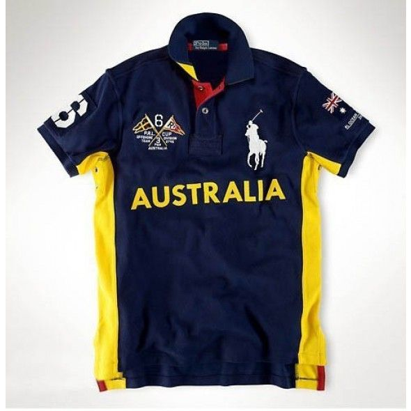 Newest Ralph Lauren Big Pony 6 AUSTRALIA Symbol Navy Sporty Polo http://www