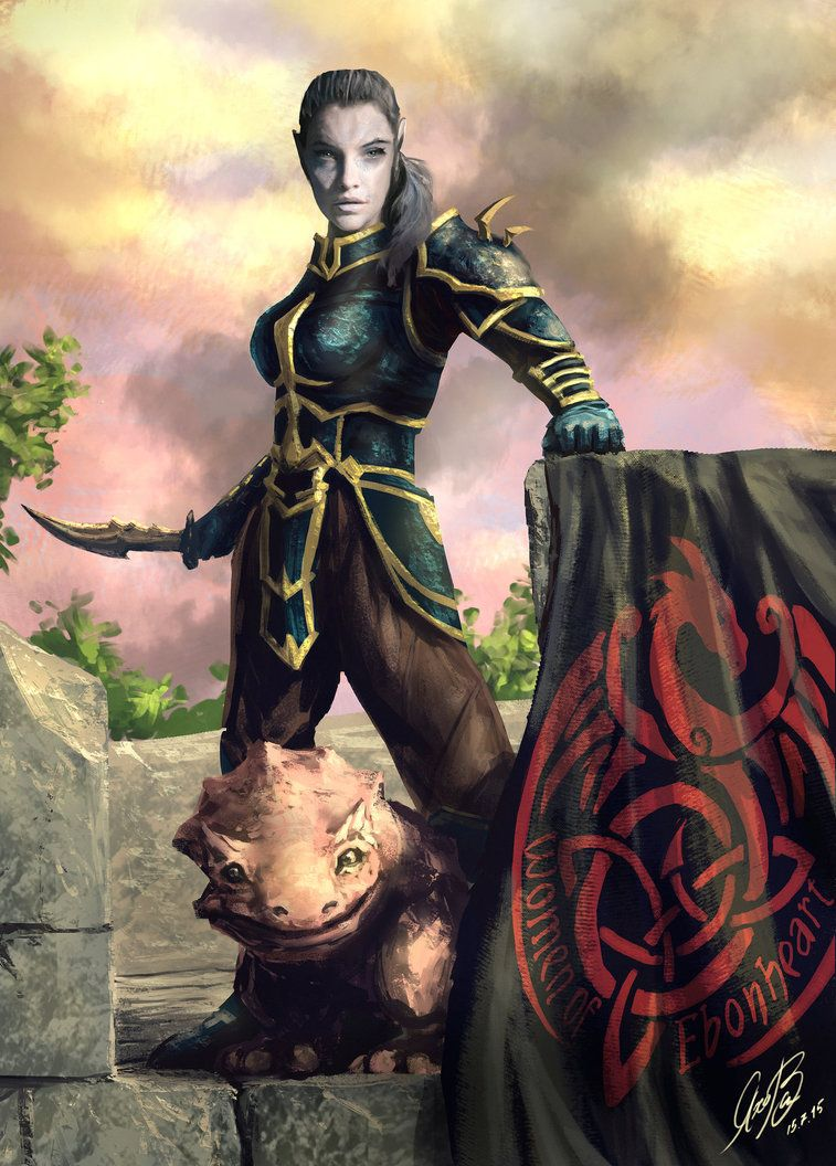 Commission ESO Dunmer Girl by Entar0178 | Elder Scrolls