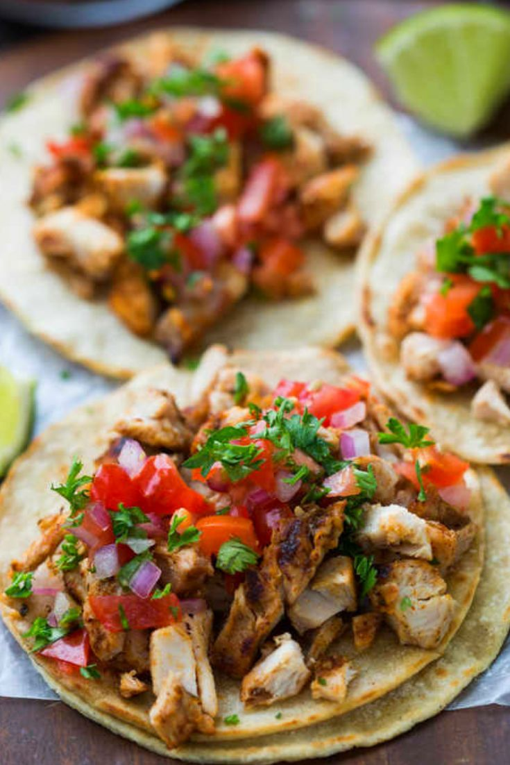 Street Grilled Chicken Tacos