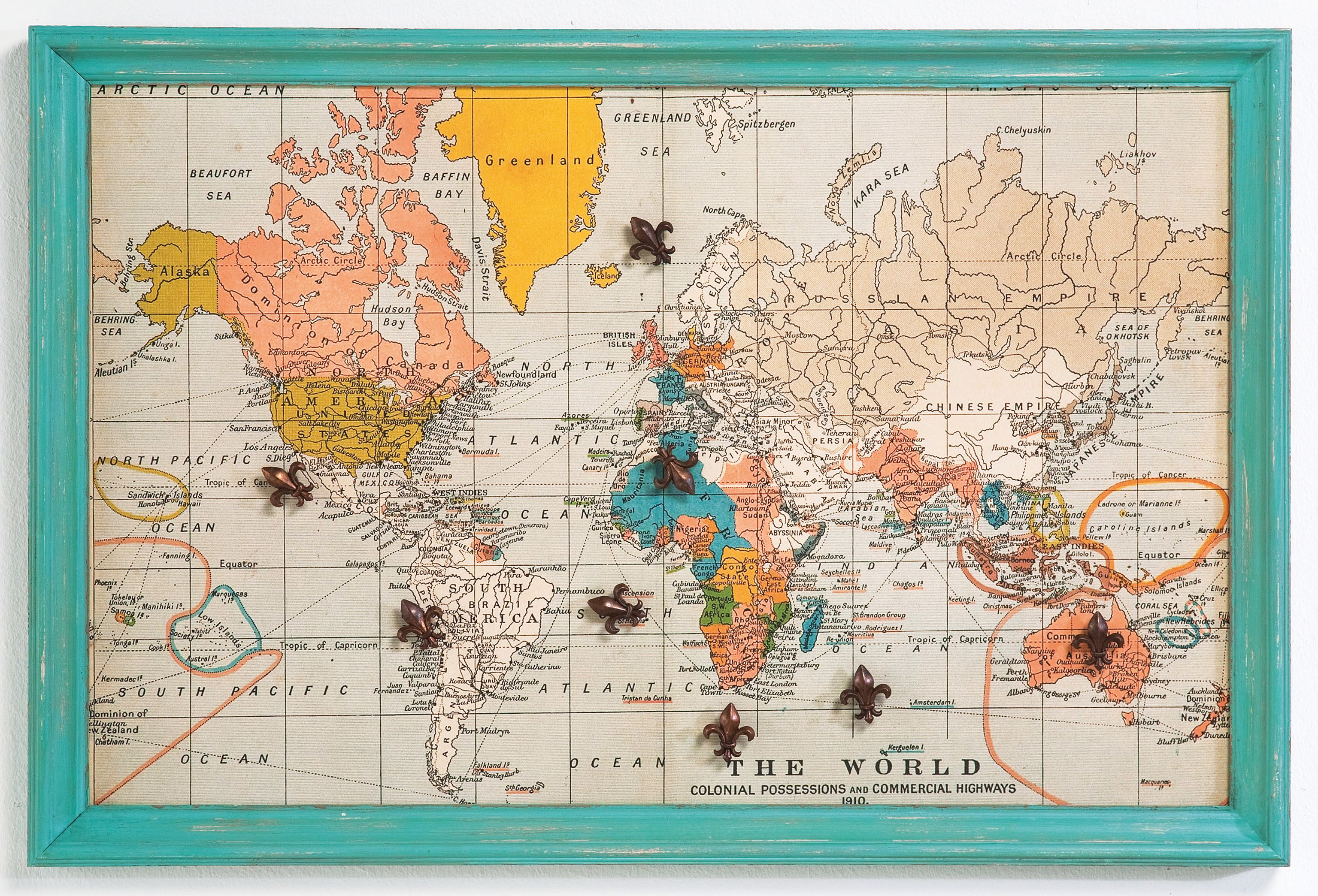 Vintage world map memo board by i love retro design by stuckup awesome world map magnetic board perfect for my magnet collection from all my travels gumiabroncs Image collections
