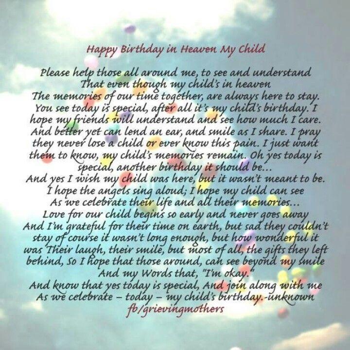 Image Result For Birthdays Of Children In Heaven