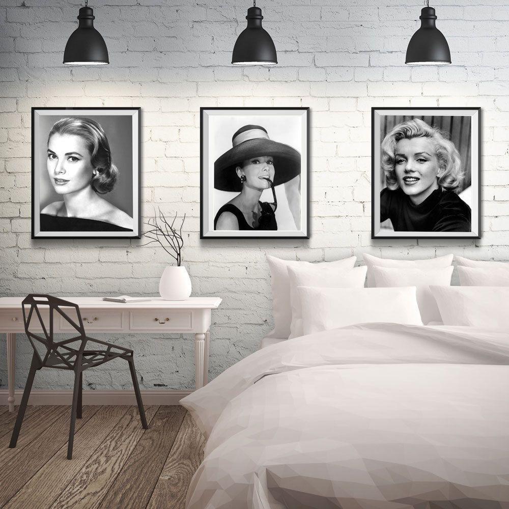 Audrey Hepburn Print Hepburn Poster Marilyn Monroe Print Monroe ...