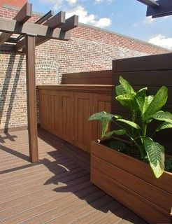 Nyc Brooklyn Heights Rooftop Terrace Custom Decking Walls Pergola S Planter Boxes Retractable Motorized Shade Pergola Ideas For Patio Pergola Wood Pergola