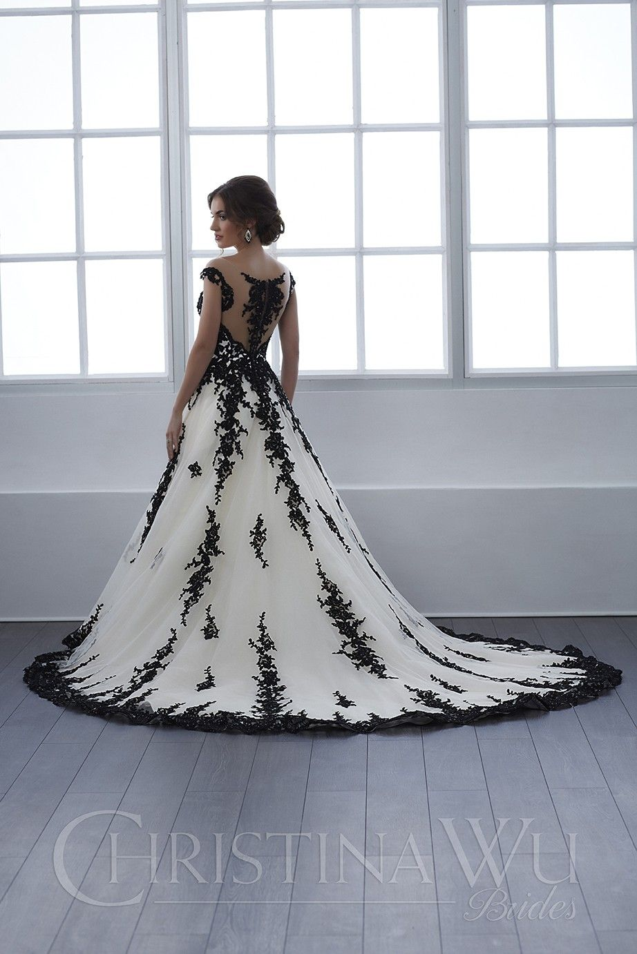 Christina Wu 15657 Dress Madamebridal Com Black Lace Wedding Black White Wedding Dress Goth Wedding Dresses