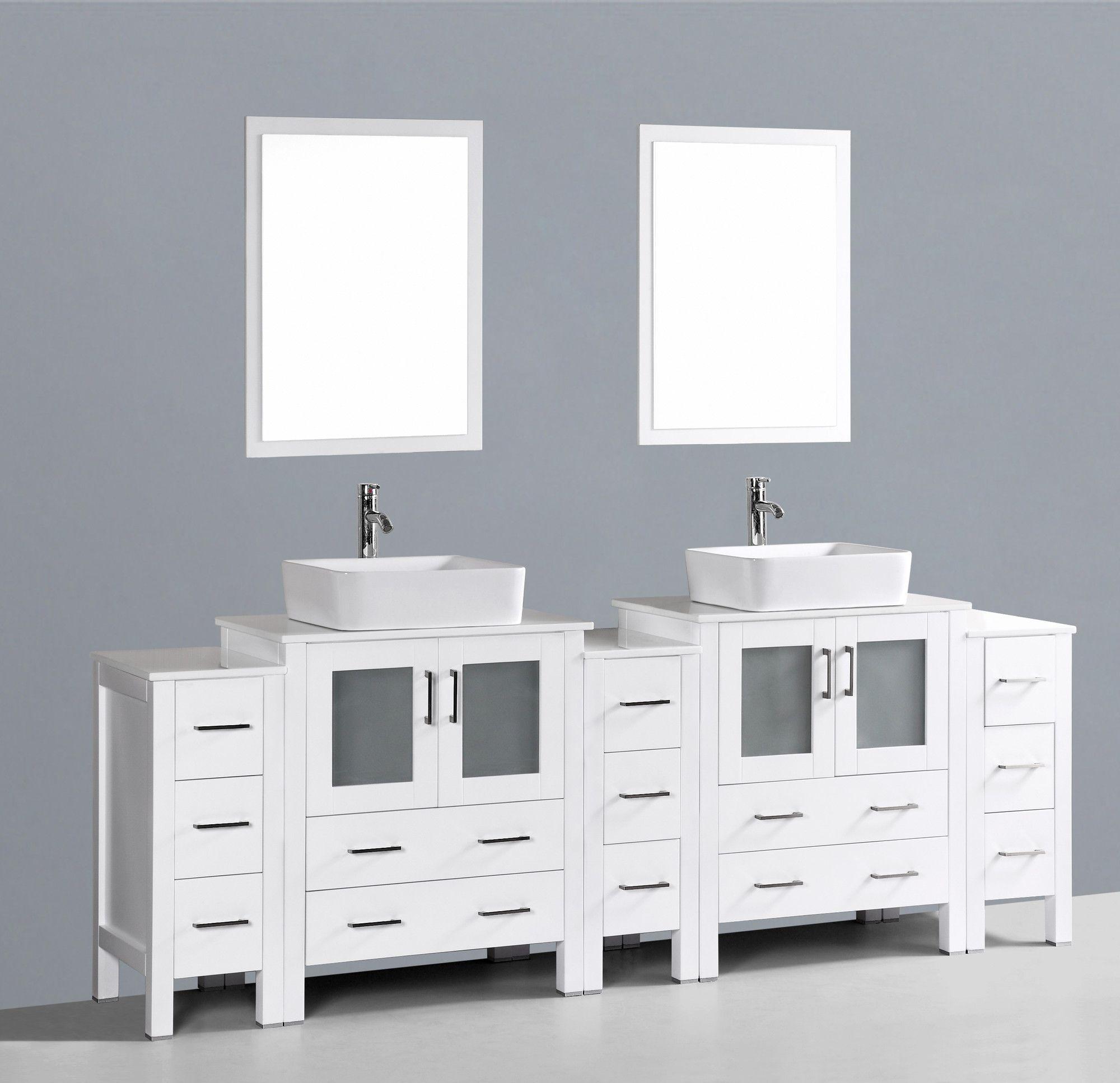 Gespiegelt Badezimmer Eitelkeit Bad Doppelwaschtisch Waschbeckenunterschrank Frisiertisch