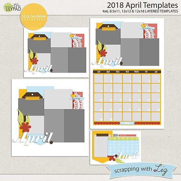 2018 April Templates Swl Products At The Lilypad Pinterest