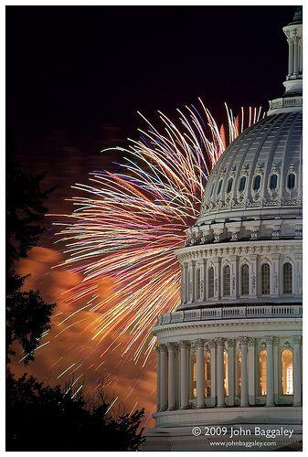 Fireworks Over The Capitol - Washington DC