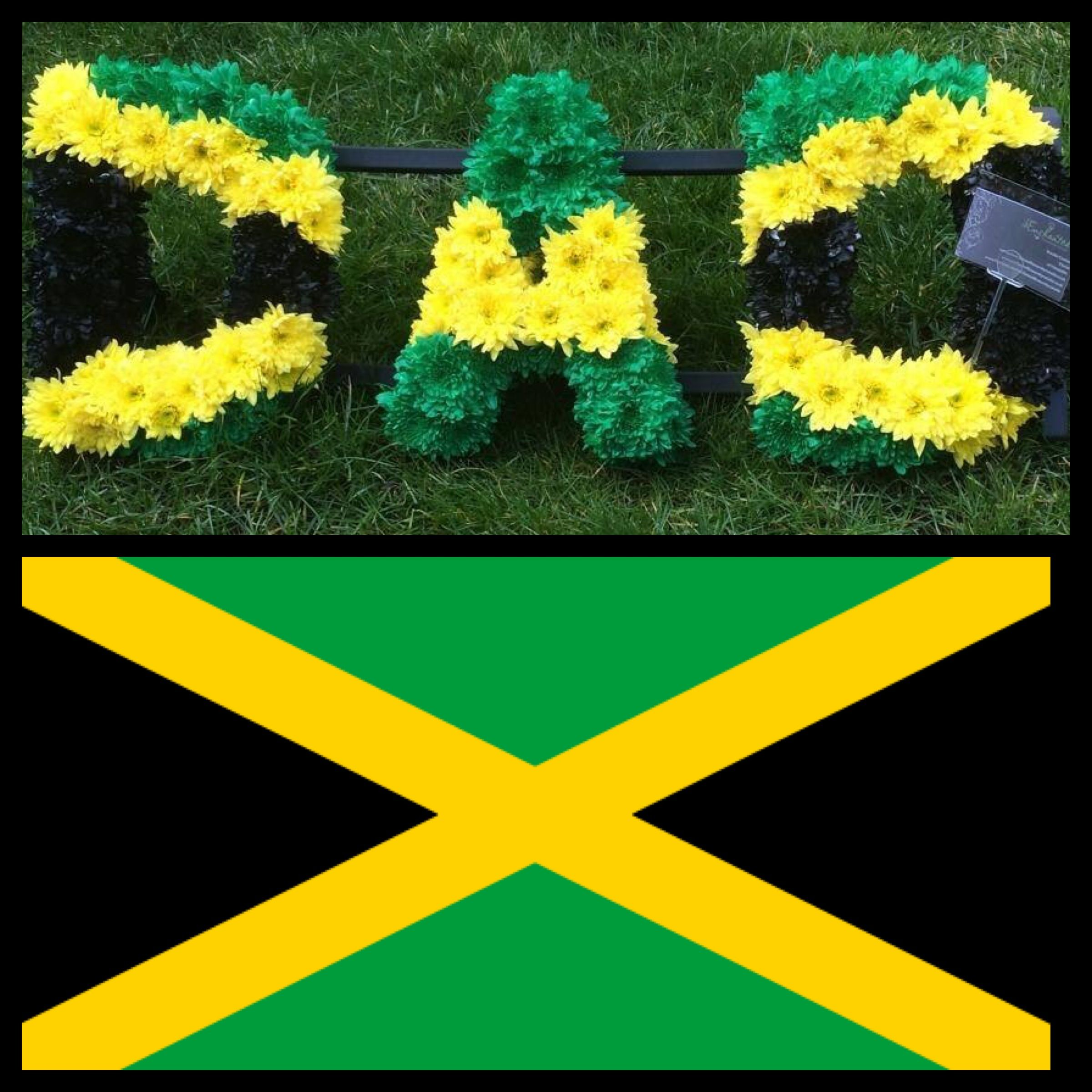 Dad Letters Funeral Tribute In Jamaican Flag Theme Www