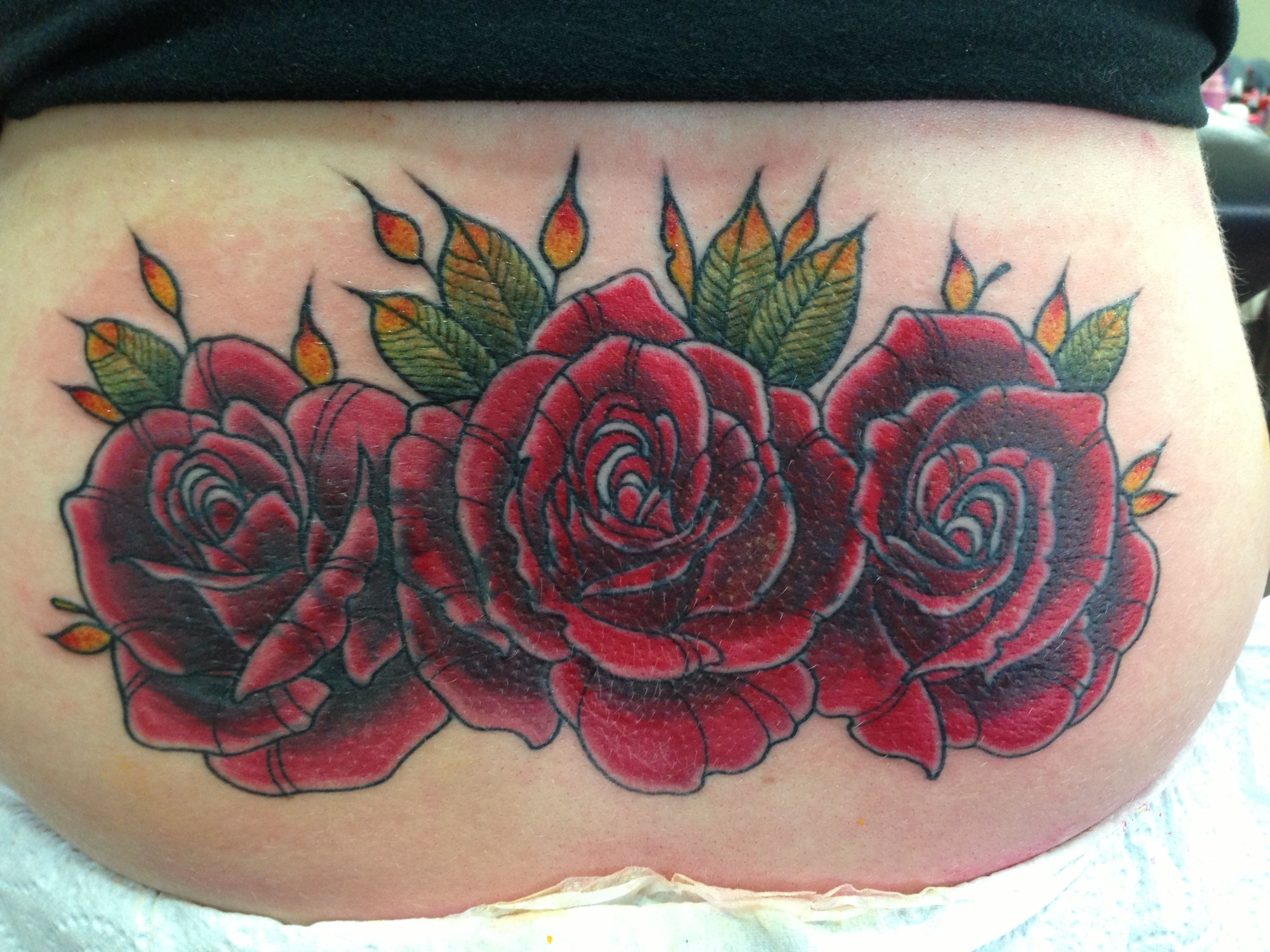 Roses Tattoo Lower Back Cover Up Cover Tattoo Rose Tattoo Cover Up Lower Back Tattoos