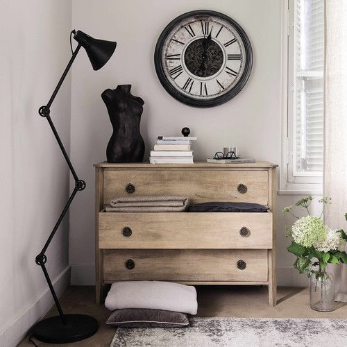 wanduhr aus metall d62 deco idee pinterest wanduhren und metall. Black Bedroom Furniture Sets. Home Design Ideas