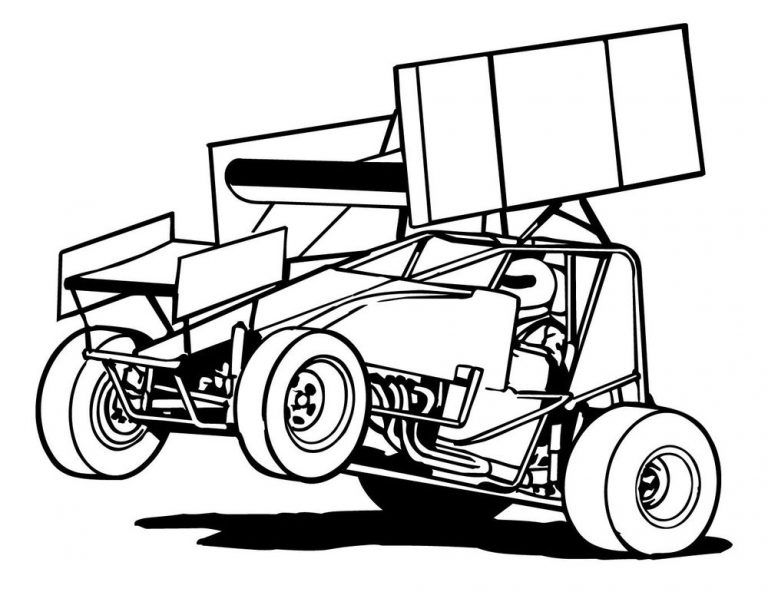 Line Art Cars Cliparts Co 33957 Cars Coloring Pages Sprint Cars Racing
