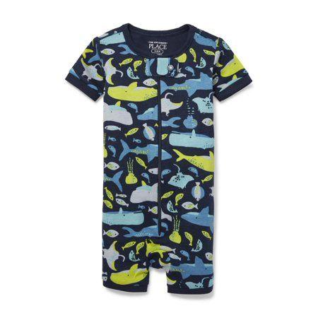 af159c0cd Baby And Toddler Boys Sea (Blue) Creature Print Stretchie (Baby and Toddler  Boys), Size: 3 - 6 Months