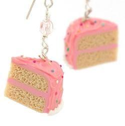 Gift Idea: Pink Sprinkle Vanilla Cake Earrings