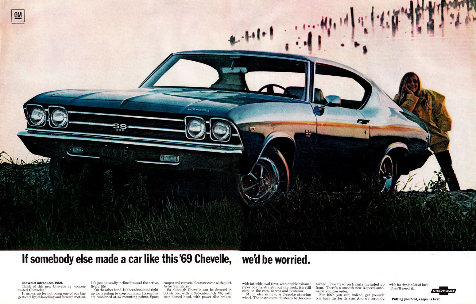 1969 chevelle ss 396 ad if someone else made a car like this chevelle we d be worried