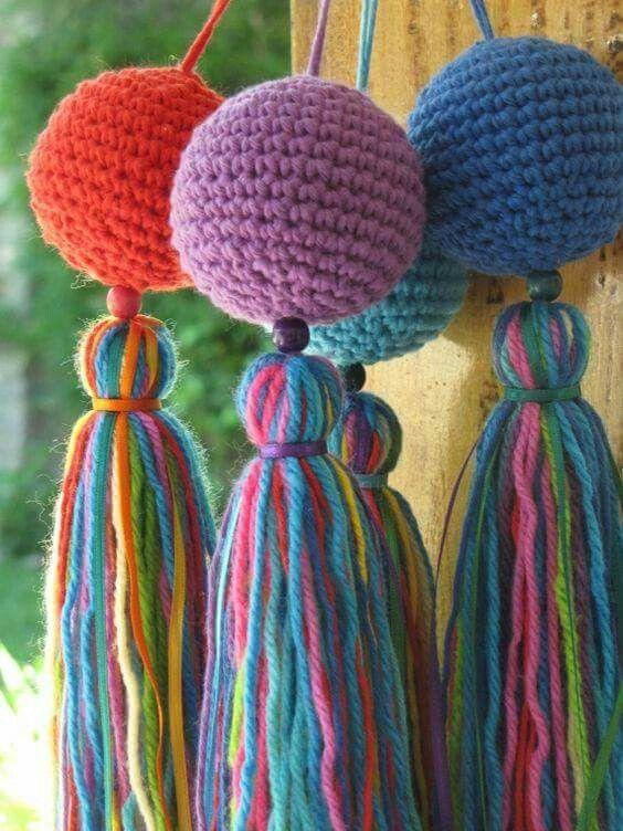 En crochet hermosos diseños para decorar las cortinas y darle un ...