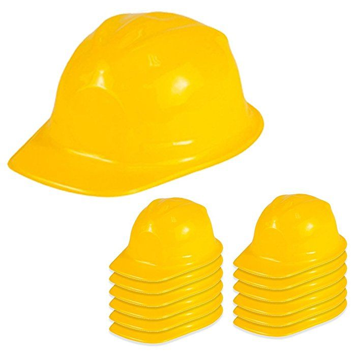 4fa905779d2 Amazon.com  Dress Up Construction Hat - Plastic Construction Hats by Funny Party  Hats  Toys   Games