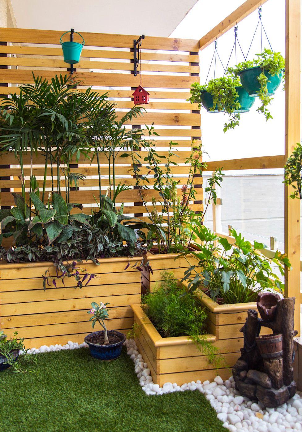 24 Ideas Sencillas Para Renovar Tu Terraza Con Poco Dinero Homify Homify Jardin En Terraza Diseno Para Jardines Pequenos Jardin De Balcon Pequeno