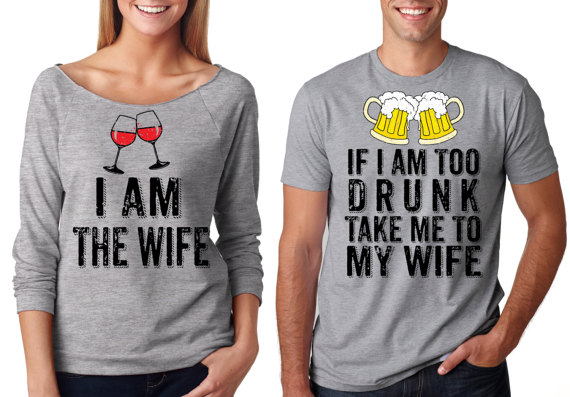 8e2d548290 Funny Couple Matching Drinking Party Husband Wife T-Shirts Couple Tshirts, Matching  Couples,