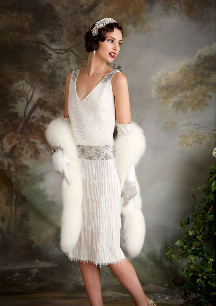Pinterest flapper wedding dresses 1920s style and adrianna papell - Eliza Jane Howell Elegant Art Deco Inspired Wedding Dresses