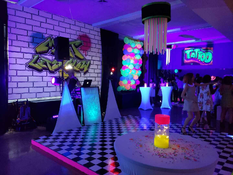 Glow in the dark party middleschooldance glowparty