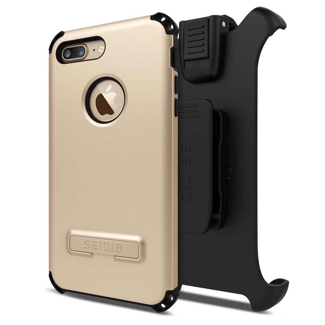 Seidio Dilex Case And Holster Combo With Kickstand For Apple Iphone 7 Plus And Iphone 8 Plus Gold Black Iphone 7 Plus Iphone 8 Plus Kickstand
