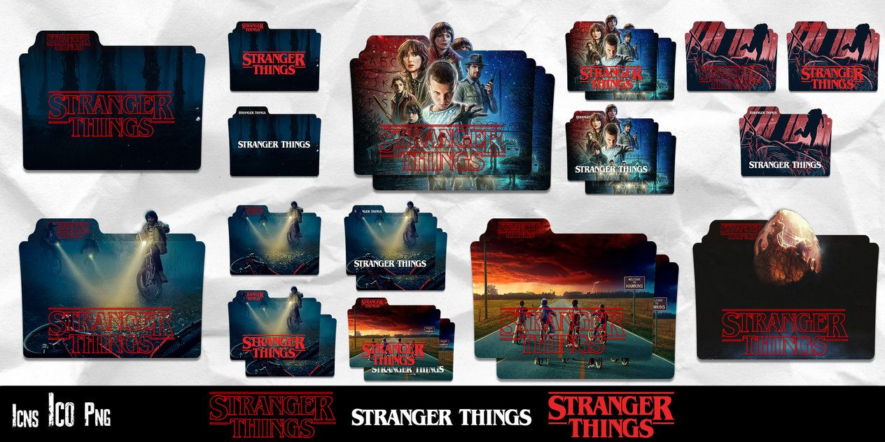 Stranger Things Collection Folder Icon Pack By Geraldmcgrew Folder Icon Icon Pack Icon