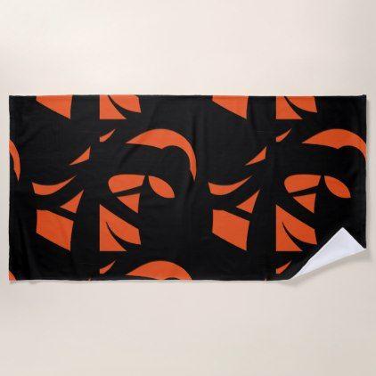Contemporary art orange black beach towel cyo customize do it contemporary art orange black beach towel cyo customize do it yourself diy solutioingenieria Images