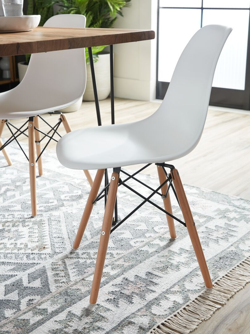 White Chair With Solid Beech Wood Legs Structube Eiffel