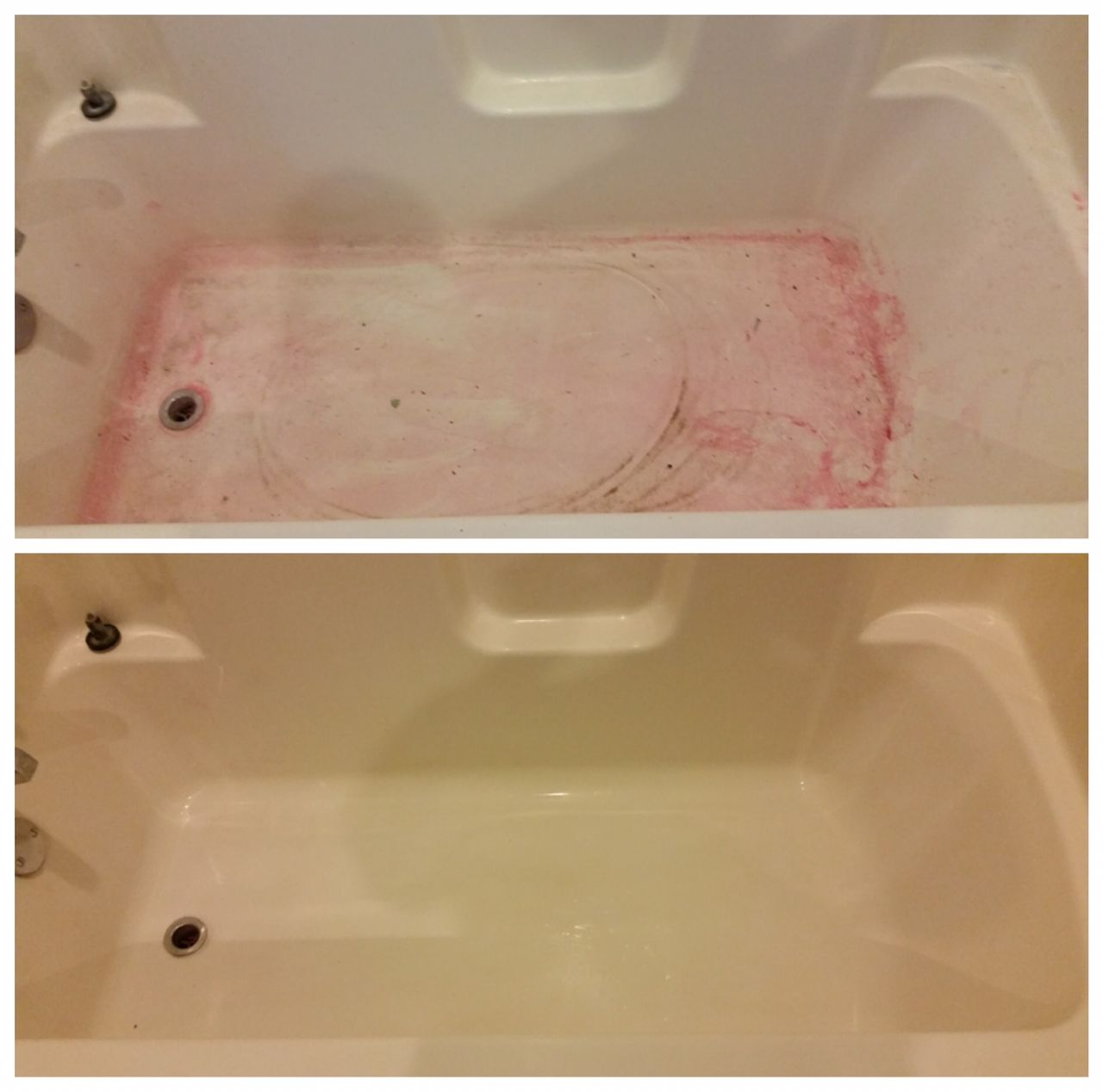 Bar Keepers Friend Even Gets Rid Of Hair Dye Stains In The Bathtub Hair Dye Removal Dyed Red Hair Dyed Hair