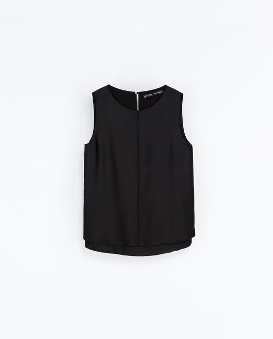 ZARA - WOMAN - SLEEVELESS BLOUSE