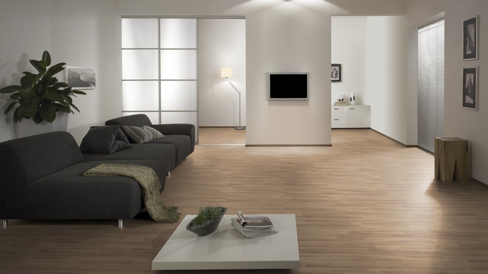 floor: great living room decoration using light oak wood cork