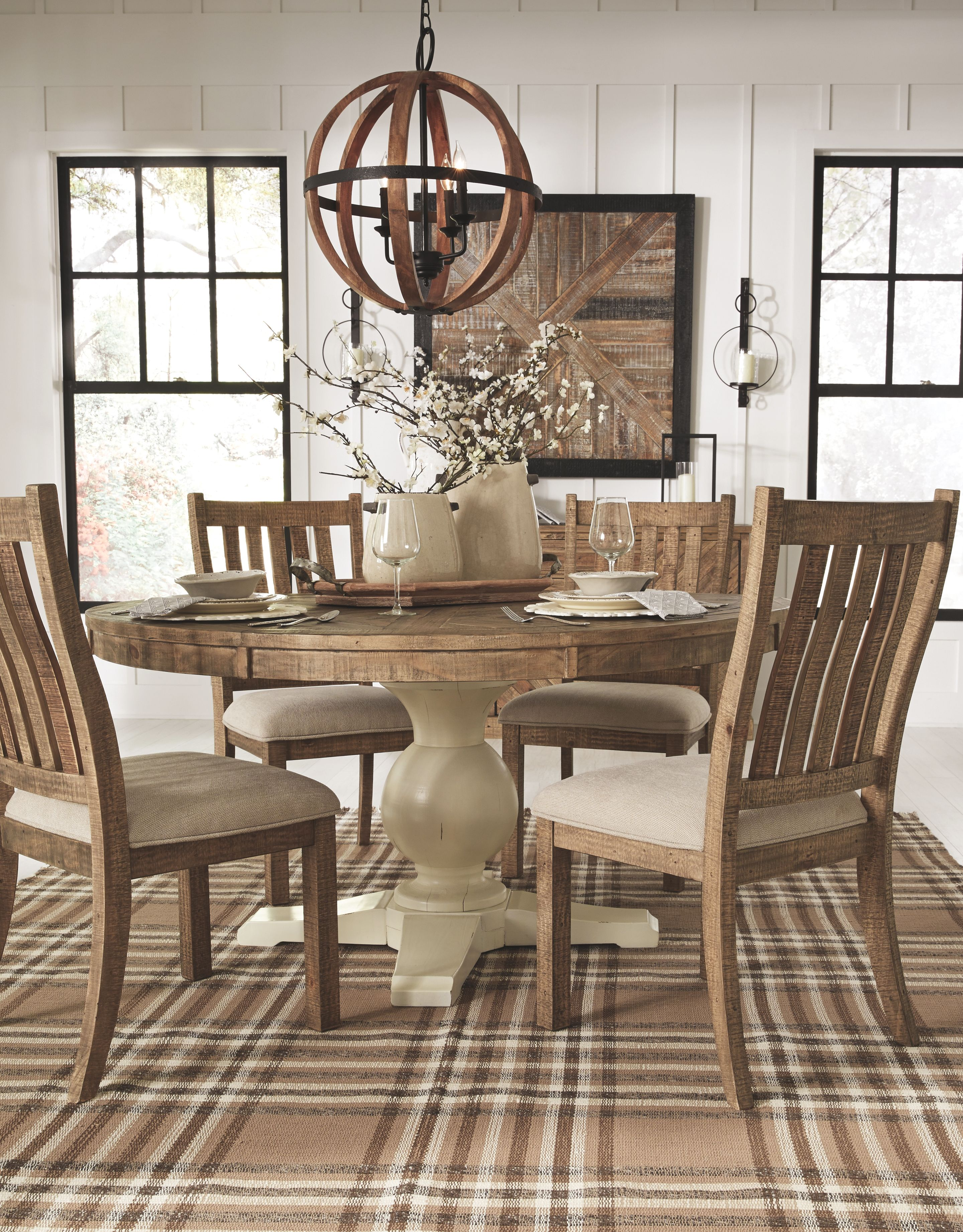 Grindleburg Dining Room Chair Set Of 2 Light Brown