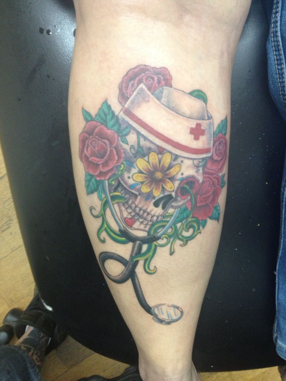 Tattoos tattoo ideas on pinterest rn - My Sugar Skull Nurse I Love It Hurt Like Hell Tattoo Designstattoo Ideasnursing Tattoossleeve