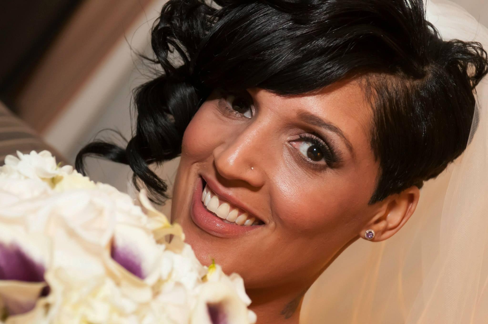 Bridal african american airbrush makeup julie fischer makeup