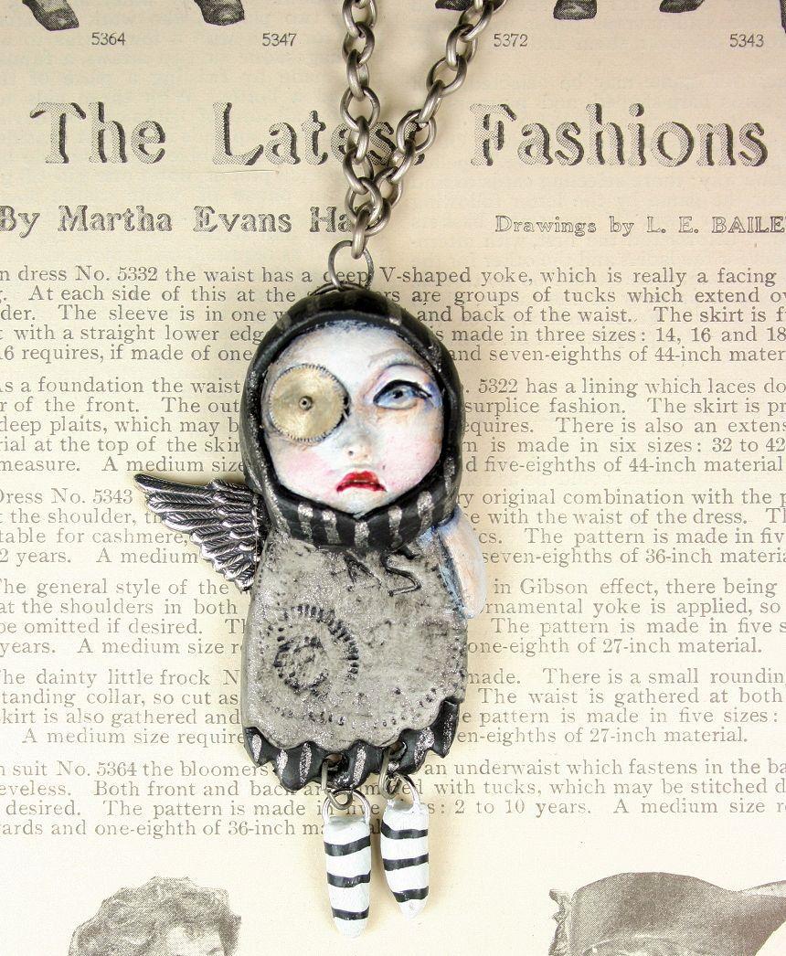 Original Steampunk Soul Art Doll Necklace