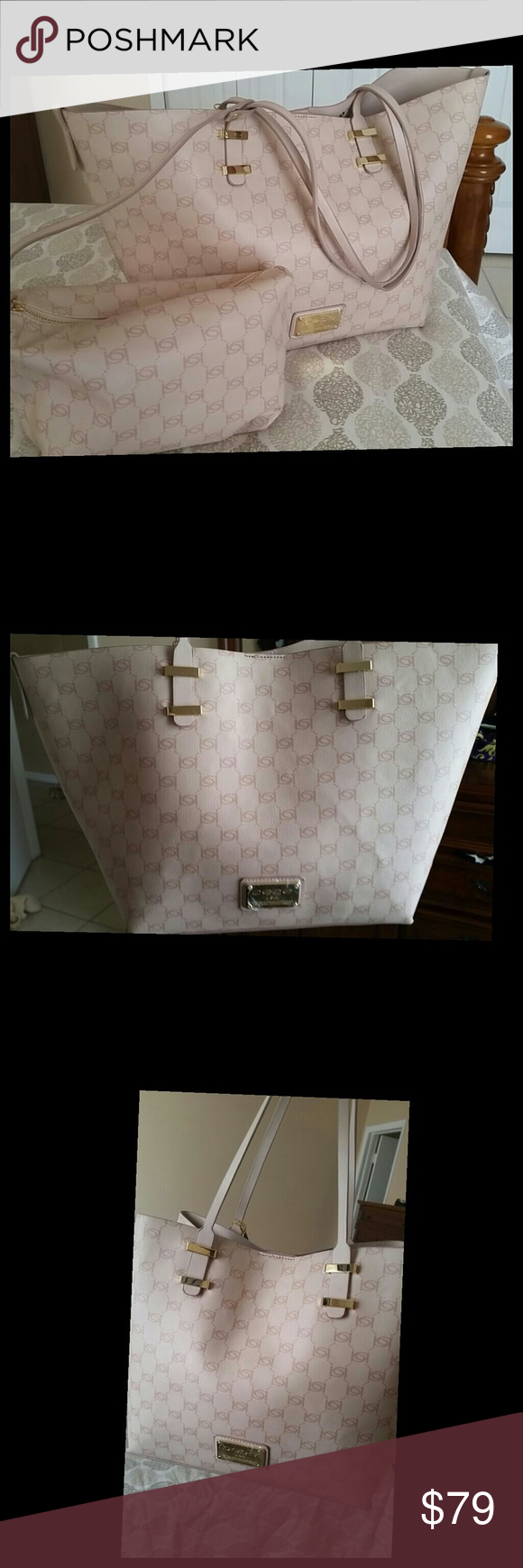 NWT Bebe Alexis Tote With Cosmetic Pouch - Blush NWT OPEN TO OFFERS AVAILABLE ON MERC bebe Bags Totes