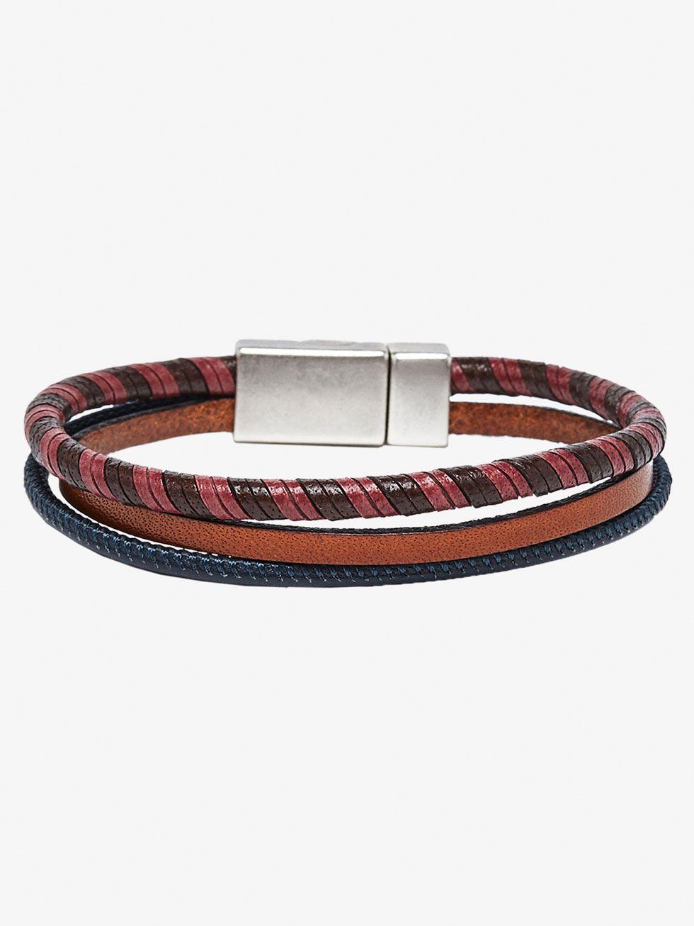 4ddda6c57eda6 Bracelets - Accessories - MEN - Massimo Dutti   lather br ...