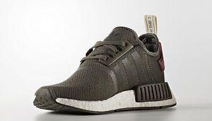 Womens-Adidas-NMD-Nomad-ba7752-olive-green -maroon-burgundy-R1-boost-sneaker-new b3e25e0f2c