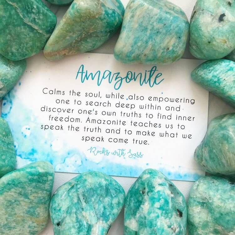 Amazonite Tumbled Pocket Stone Crystal Healing Stones Crystals