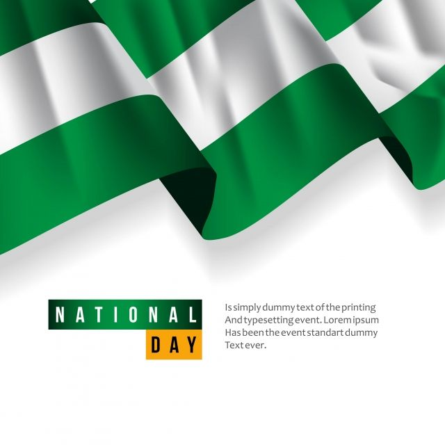 Nigeria National Day Vector Template Design Illustration Vector And Png Illustration Design Template Design National Day